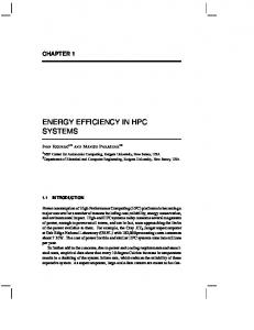 ENERGY EFFICIENCY IN HPC SYSTEMS