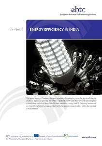 ENERGY EFFICIENCY IN INDIA