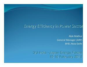 Energy Efficiency in Power Sector