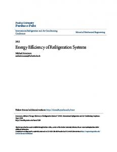 Energy Efficiency of Refrigeration Systems