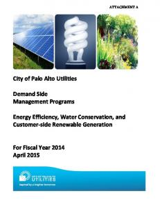 Energy Efficiency, Water Conservation, and Customer-side Renewable Generation