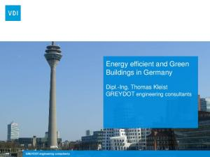 Energy efficient and Green Buildings in Germany