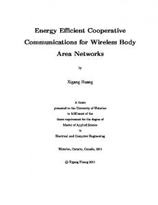 Energy Efficient Cooperative Communications for Wireless Body Area Networks
