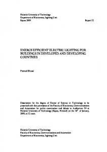 ENERGY-EFFICIENT ELECTRIC LIGHTING FOR BUILDINGS IN DEVELOPED AND DEVELOPING COUNTRIES