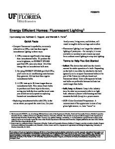 Energy Efficient Homes: Fluorescent Lighting 1