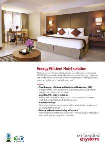 Energy Efficient Hotel solution
