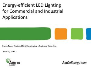 Energy-efficient LED Lighting for Commercial and Industrial Applications