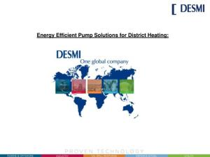 Energy Efficient Pump Solutions for District Heating: