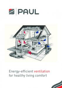 Energy-efficient ventilation for healthy living comfort