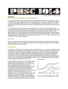 Energy: Home Energy Audit