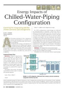 Energy Impacts of. Chilled-Water-Piping Configuration. Condenser. Evaporator. Condenser. Evaporator. Condenser. Evaporator 500 tons each