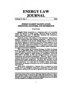 ENERGY LAW JOURNAL Volume 31, No