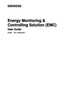 Energy Monitoring & Controlling Solution (EMC)