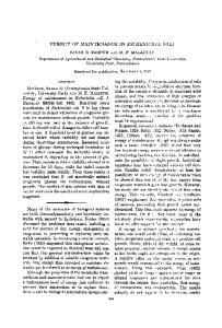 ENERGY OF MAINTENANCE IN ESCHERICHIA COLI