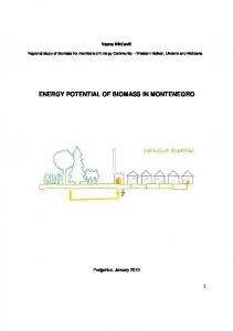 ENERGY POTENTIAL OF BIOMASS IN MONTENEGRO