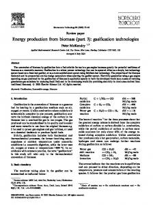 Energy production from biomass (part 3): gasification technologies