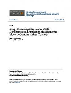 Energy Production from Poultry Waste: Development and Application of an Economic Model to Compare Various Concepts
