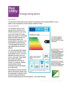 Energy saving advice