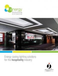 Energy-saving lighting solutions for the hospitality industry