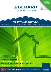 ENERGY SAVING OPTIONS