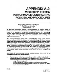Energy Savings Performance Contracting and Shared Savings Contracting Code Section: