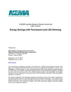 Energy Savings with Fluorescent and LED Dimming