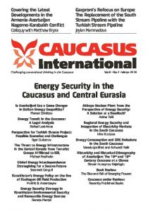 Energy Security in the Caucasus and Central Eurasia