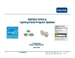 ENERGY STAR & Lighting Facts Program Updates