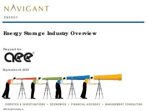 Energy Storage Industry Overview