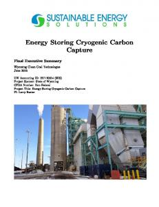 Energy Storing Cryogenic Carbon Capture