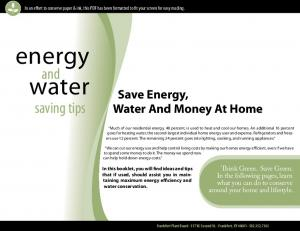 energy water and saving tips Save Energy, Water And Money At Home