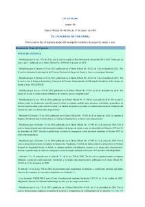 (enero 16) Diario Oficial No , de 17 de enero de 2001 EL CONGRESO DE COLOMBIA