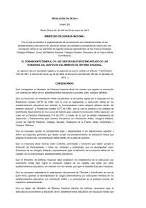 (enero 26) Diario Oficial No de 29 de enero de 2015 MINISTERIO DE DEFENSA NACIONAL