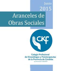 Enero Aranceles de 2014 Obras Sociales Enero Enero Junio 2015