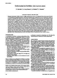 Enfermedad de Schilder: dos nuevos casos