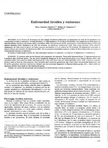 Enfermedad tiroidea y embarazo