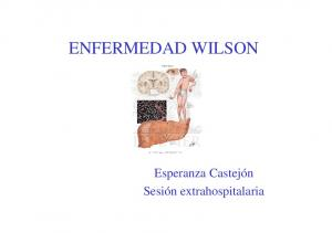 ENFERMEDAD WILSON. Esperanza Castejón Sesión extrahospitalaria