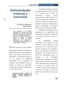 Enfermedades crónicas y nutrición