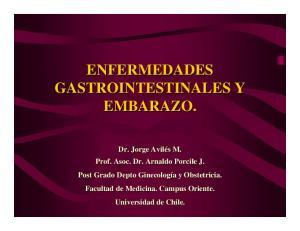 ENFERMEDADES GASTROINTESTINALES Y EMBARAZO