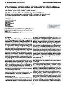 Enfermedades periodontales: consideraciones microbiológicas