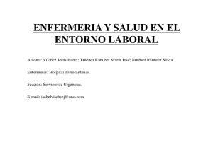 ENFERMERIA Y SALUD EN EL