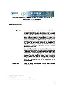 ENFOQUE DE RIESGOS, UNA NECESIDAD EN EL DESARROLLO DE LA VIGILANCIA EN EL MERCADO