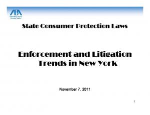 Enforcement and Litigation Trends in New York