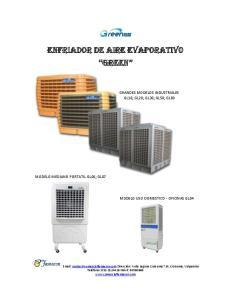 ENFRIADOR DE AIRE EVAPORATIVO GREEN