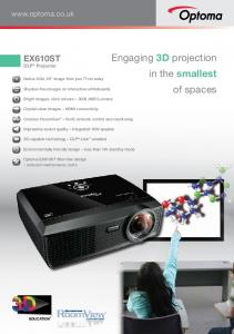 Engaging 3D projection in the smallest of spaces