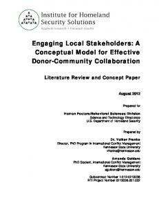 Engaging Local Stakeholders: A Conceptual Model for Effective Donor-Community Collaboration