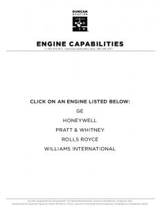 ENGINE CAPABILITIES