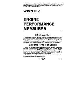 ENGINE PERFORMANCE MEASURES