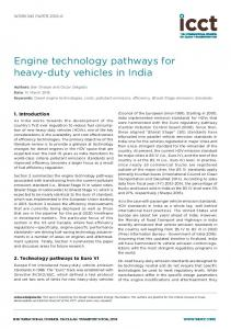 Engine technology pathways for heavy-duty vehicles in India