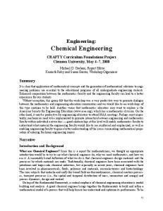 Engineering: Chemical Engineering